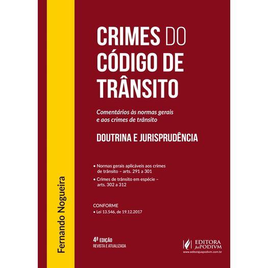 Crimes do Codigo de Transito - Juspodivm - 4 Ed