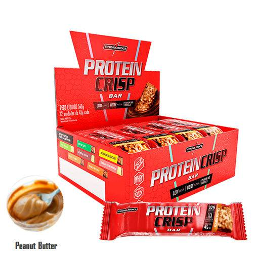 Crisp Bar - 12 Unidades - Integral Médica - Sabor Peanut Butter
