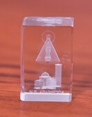Cristal de Nossa Senhora Aparecida - 2,5 Cm | SJO Artigos Religiosos