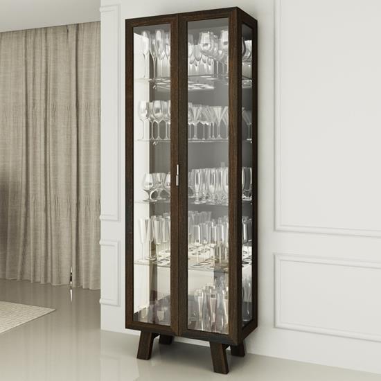 Cristaleira com Portas de Vidro CR6000 - Tecno Mobili