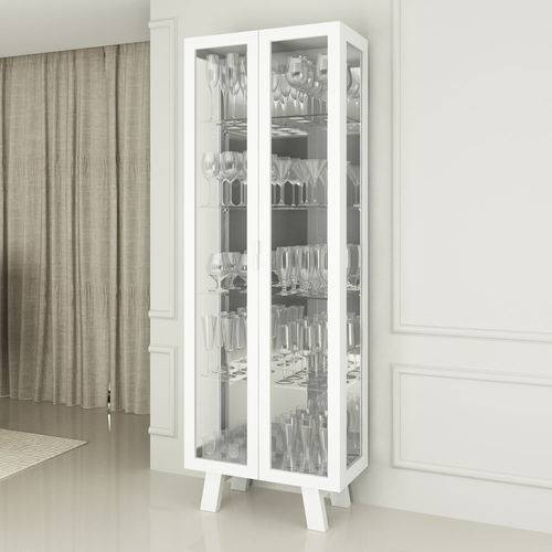 Cristaleira Cr6000 Branco - Tecno Mobili