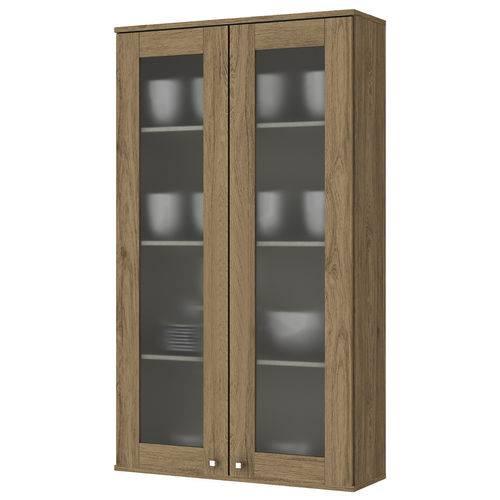 Cristaleira de Cozinha Aéreo 2 Portas 70cm Space Henn Rústico