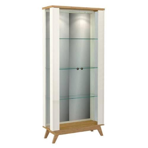Cristaleira Espelhada C/ Porta de Vidro C701l-branco