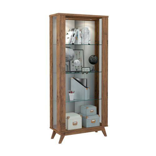 Cristaleira Espelhada C/ Porta de Vidro C701l-nobre