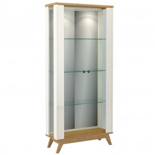 Cristaleira Espelhada C/ Porta de Vidro + LED Linha Retrô - Dalla Costa | Elare