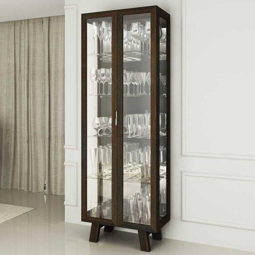 Cristaleira 2 Portas com Espelhos CR6000 Tecno Móbili