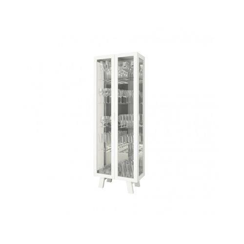 Cristaleira 2 Portas de Vidro CR6000 Tecno Mobili Branco