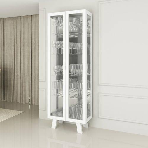 Cristaleira 2 Portas em Vidro Cr6000 Tecno Mobili Branco