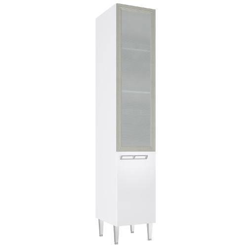 Cristaleira Profunda com 1 Porta Vidro Cz708 40x215 Branco - Art In Móveis