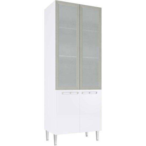 Cristaleira Profunda 2 Portas Vidro Cz709 Mia Coccina - Art In Móveis Branco