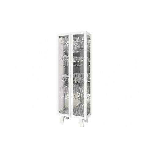 Cristaleira Tecno Mobili CR-600 C/ 2 Portas - Cor Branco