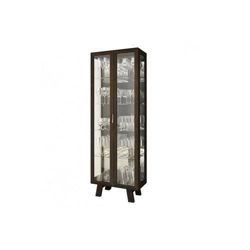Cristaleira Tecno Mobili CR-600 C/ 2 Portas - Cor Tabaco