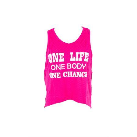 Cropped Camiseta Fitness Regata Pink / M