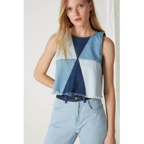 Cropped Jeans Mix Lavagens Jeans - 36