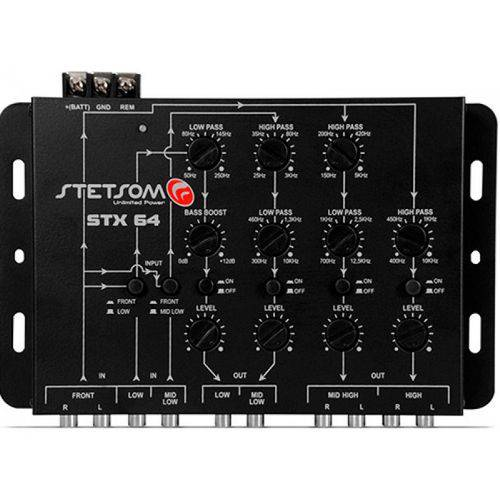 Crossover Stetsom Stx64 + Controle de Longa Distância Stetsom