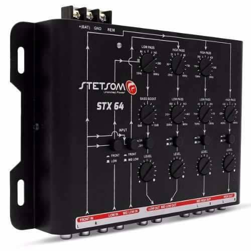 Crossover Stx64 Stetsom 4 Canais Mono ou Stereo Mesa
