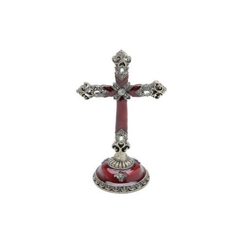 Crucifixo Dourado em Zamac 5,5 X 5,5 X 15cm