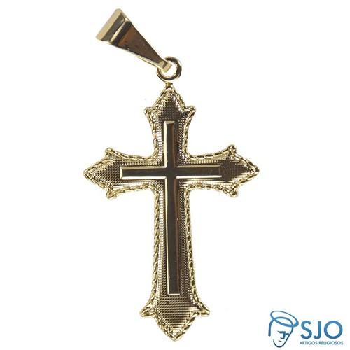Crucifixo Folheado a Ouro | SJO Artigos Religiosos