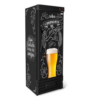 CRV-400 Cervejeira Refrigerada Vertical Lousa Bar CONSERVEX