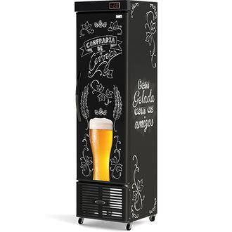 CRV-250 Cervejeira Refrigerada Slim Vertical Lousa de Bar Conservex-110V