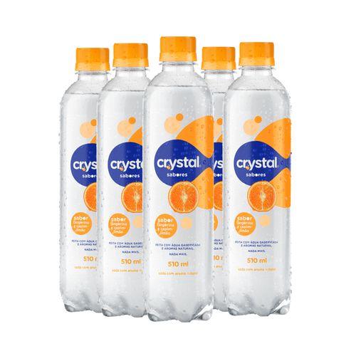 Crystal Sabores Tangerina e Capim Limão 510ml (Pack 6 Unidades)