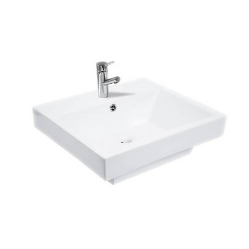 Cuba de Banheiro Lavatório Vicenza Branco - Eternit