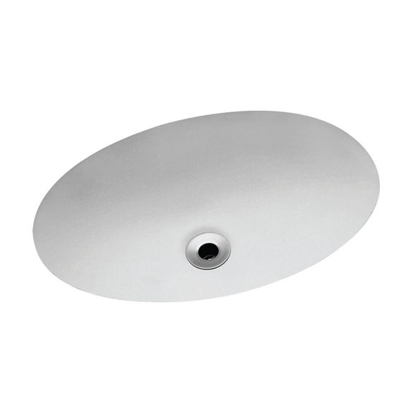 Cuba Embutir Oval Celite 49x32 5cm Branca