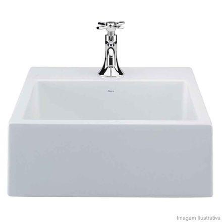 Cuba para Banheiro de Apoio Quadrada 41x41cm L73 Gelo Deca