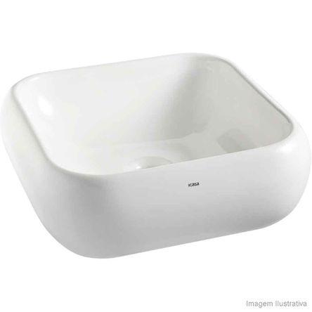 Cuba para Banheiro de Apoio Quadrada Branca Icasa