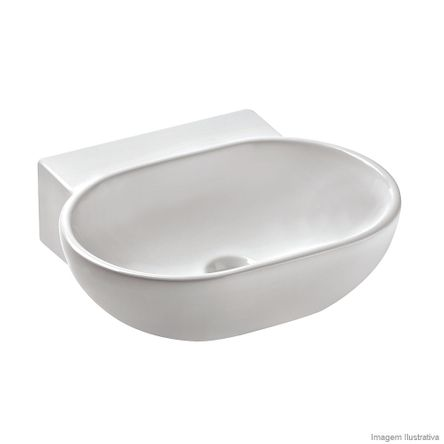 Cuba para Banheiro de Apoio Retangular 45x39cm com Mesa Calypso Branca Celite