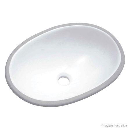 Cuba para Banheiro de Embutir Oval Branca Icasa