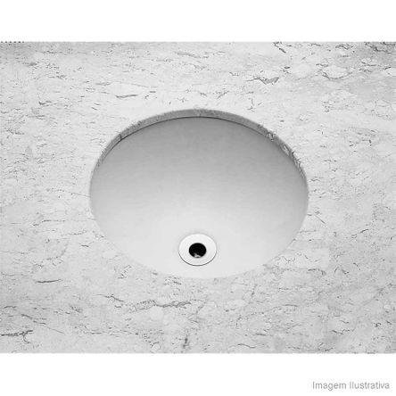 Cuba para Banheiro de Embutir Redonda 36,5cm Sem Ladrão Branca Celite