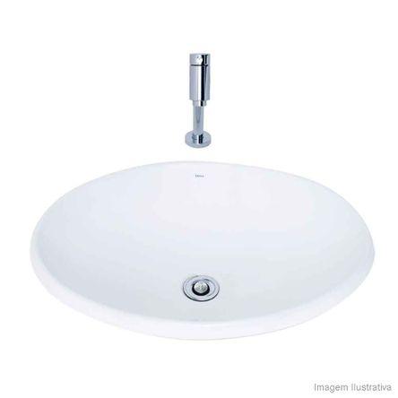 Cuba para Banheiro de Sobrepor Oval 50x37cm L680 Gelo Deca