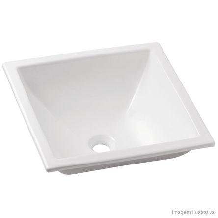 Cuba para Banheiro de Sobrepor Quadrada Basic Q3 41x41cm Branca Celite