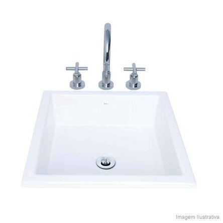 Cuba para Banheiro de Sobrepor Quadrada L700 35,5x41cm Gelo Deca
