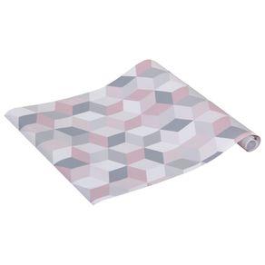 Cubis Revestimento Adesivo 52 Cm X 3 M Cinza/quartzo Rosa
