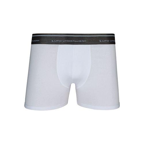 Cueca Lupo Boxer - Algodão com Elastano (Adulto) Tamanho: G   Cor: Branco