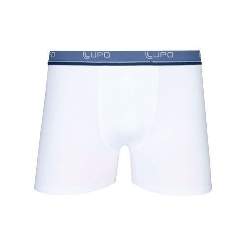 Cueca Lupo Boxer - Algodão com Elastano (Adulto) Tamanho: P   Cor: Branco