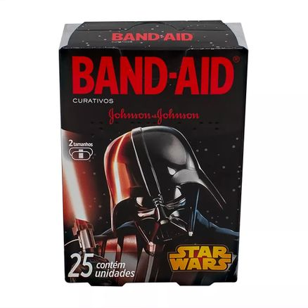 Curativos Band Aid Johnson & Johnson Decorados Star Wars 2 Tamanhos 25 Unidades