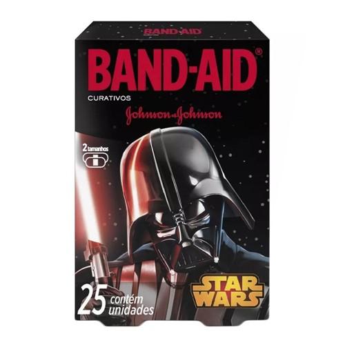 Curativos Band Aid Johnson & Johnson Decorados Star Wars 2 Tamanhos com 25 Unidades