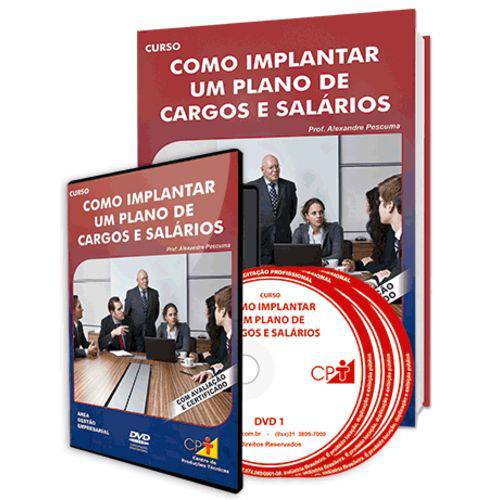 Curso Como Implantar um Plano de Cargos e Salários em Livro e DVD