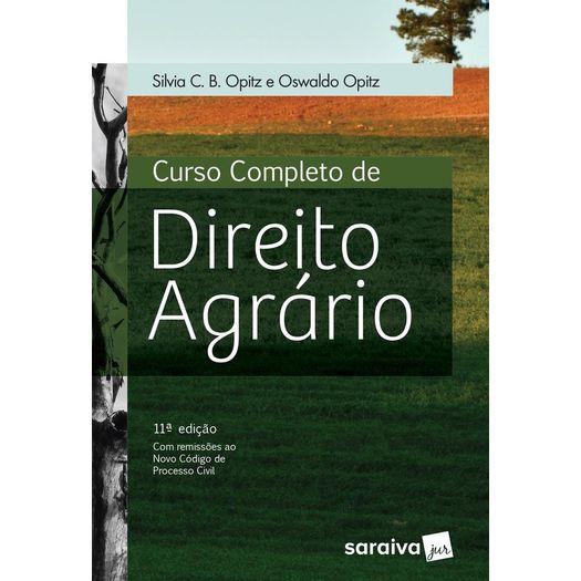 Curso Completo de Direito Agrario - Saraiva