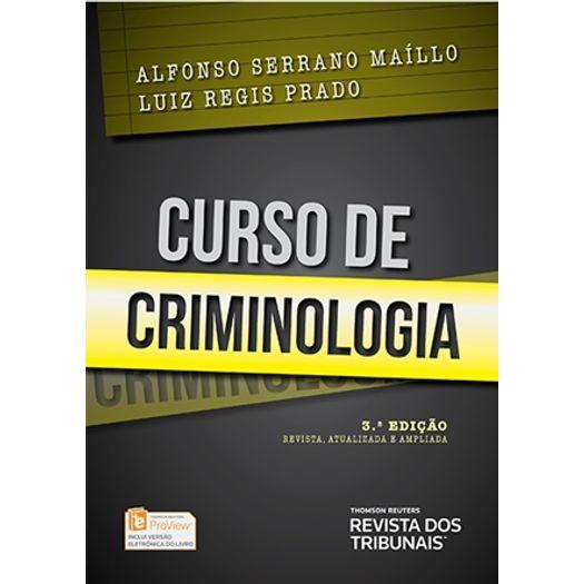 Curso de Criminologia - Rt