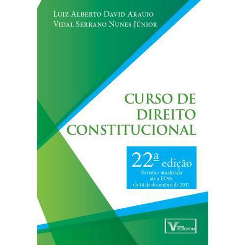 Curso de Direito Constitucional - 22ª Ed. 2018