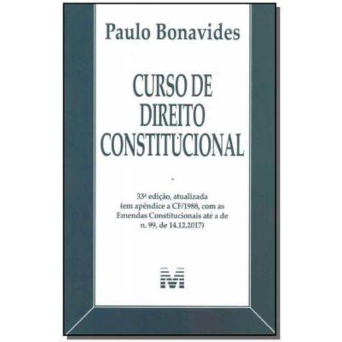 Curso de Direito Constitucional - 33Ed/18