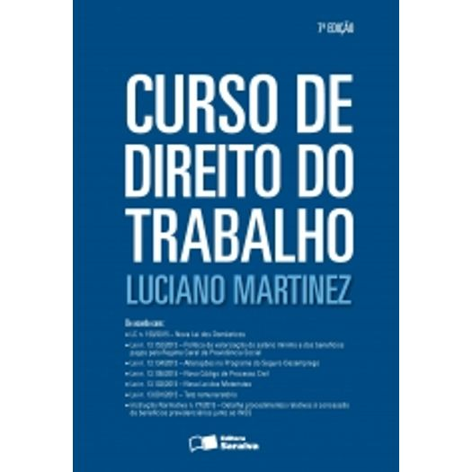 Curso de Direito do Trabalho - Saraiva - 7 Ed
