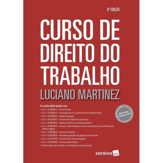 Curso de Direito do Trabalho - Saraiva - 8 Ed