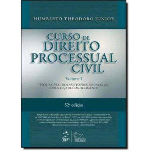 Curso de Direito Processual Civil Vol. I - 52ª Ed