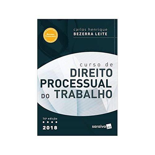 Curso de Direito Processual do Trabalho 16ªed. - Saraiva