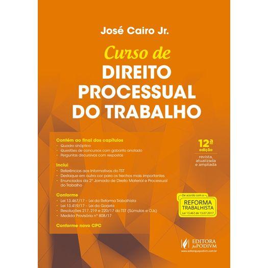 Curso de Direito Processual do Trabalho - Juspodivm - 12 Ed